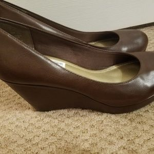 Brown Wedges. Size 9.5.